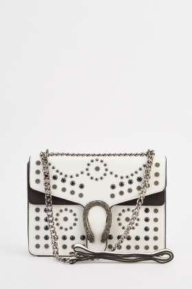Multi Stud Contrast Bag