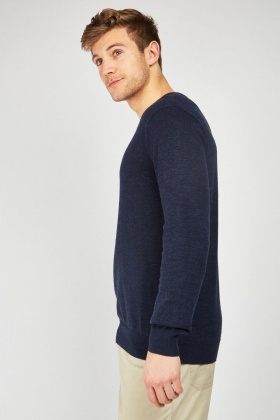 Fine Knit Plain Jumper