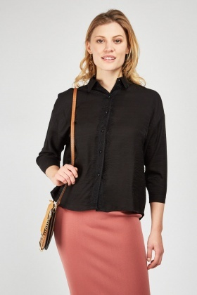 Lace Trim Lightweight Shirt