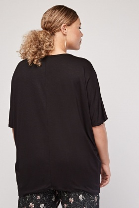 Plain Batwing Sleeve Top