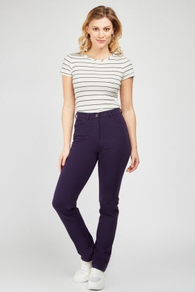 Plain Slim Fitted Trousers