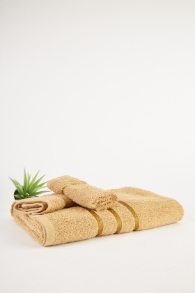 Sand Bath Towel And Flannel Set