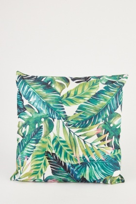 Tropical Palm Tree Print Cushion