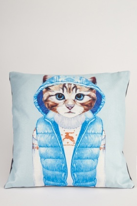 Cat Printed Front Cushion