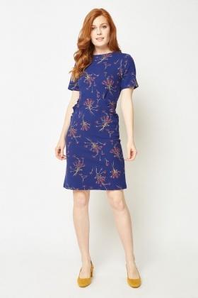 0c5e155f4a Ruffle Trim Floral Midi Dress