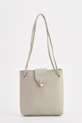 Faux Pearl Flap Over Handbag