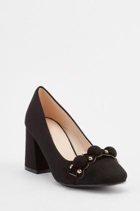 fce968fa0d72 Front Detail Block Heels
