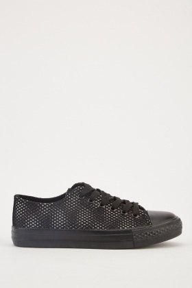 Mesh Overlay Low Top Trainers