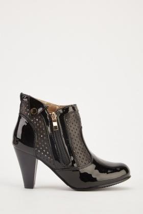 PVC Laser Cut Ankle Boots 0849d482c