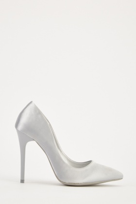 Sateen Pointed Toe Heels