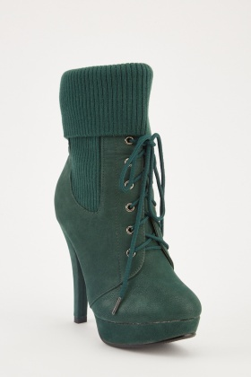 Sock Insert Lace Up Boots