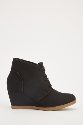 Suedette Wedge Shoes