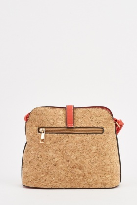 Vintage Cork Textured Handbag