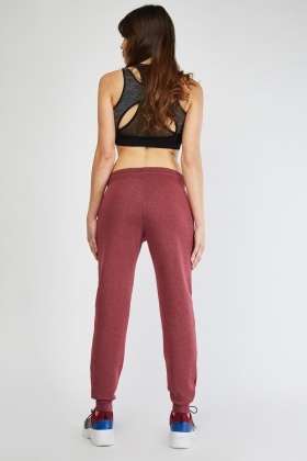 Casual Speckled Wine Joggers