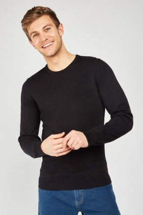 Crew Neck Fine Knit Jumper