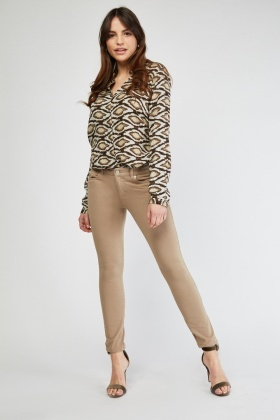 Slim Fit Jersey Jeggings