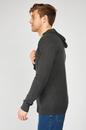 Speckled Thin Knit Hoodie