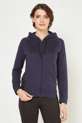 Casual Zip Up Hooded Jacket