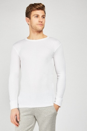 Pack Of 2 Off White Thermal Tops