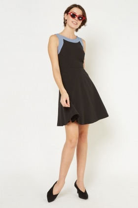 Two-Tone Skater Dress