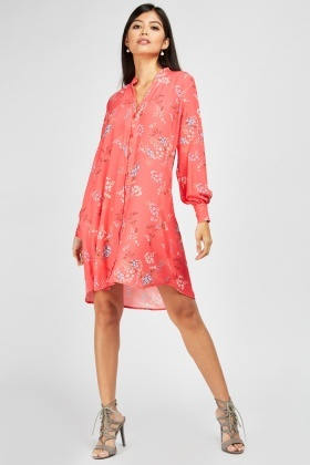 Zibi London Collared Floral Dress