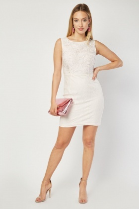 Zibi London Embroidered Front Dress