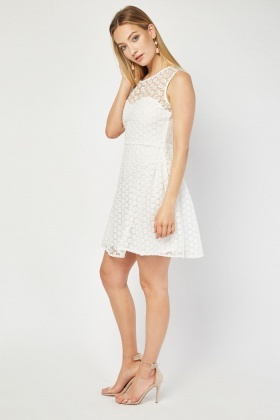 Zibi London Flower Mesh Swing Dress