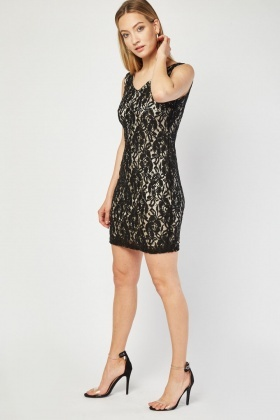 Zibi London Lace Sequin Mini Dress