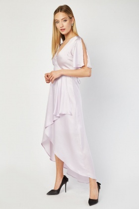 Zibi London Lilac Wrap Dress