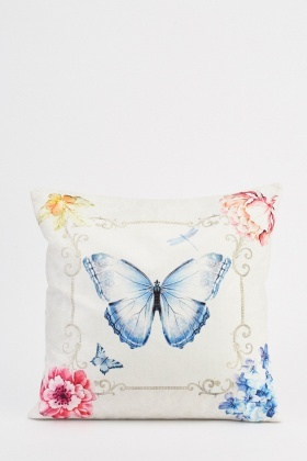 Butterfly Chain Border Print Cushion