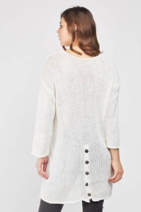 Scoop Neck Knit Jumper