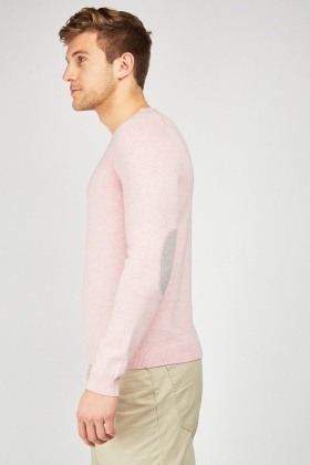 Stitched Elbow Patch Sweater
