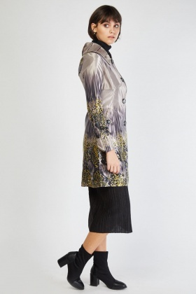 Variable Scattered Print Trench Coat