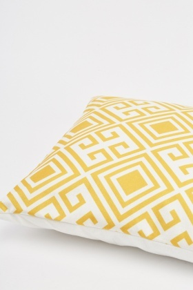 Diamond Pattern Contrast Cushion