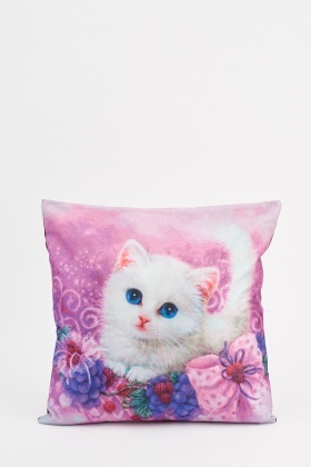 Kitten Printed Cushion