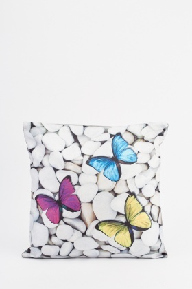 Pebble Butterfly Printed Cushion