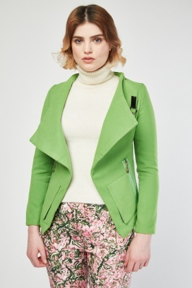 Asymmetric D-Ring Trim Jacket