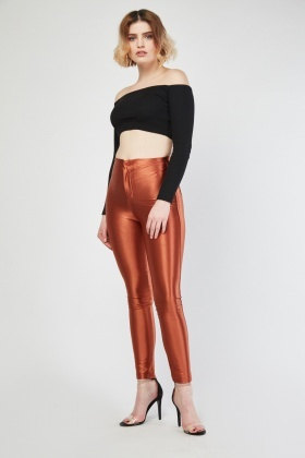 High Waist Skinny Disco Treggings