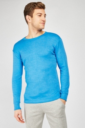 Pack Of 2 Blue Thermal Tops