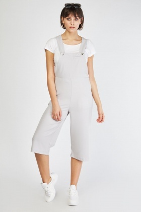 Pinafore Light Grey Culotte Jumpsuit