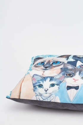 Cat Family Printed Cushion