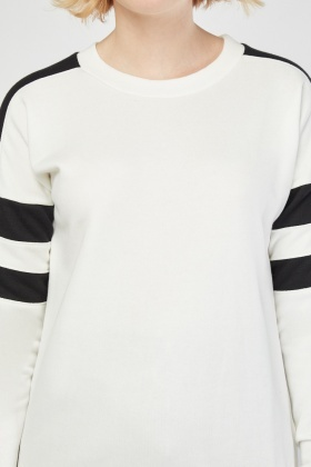 Colour Block Sleeve Sweatshirt