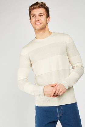 Fine Knit Striped Jumper