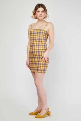 Slip-On Mini Tartan Dress