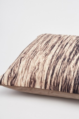 Wood Stain Effect Printed Cushion