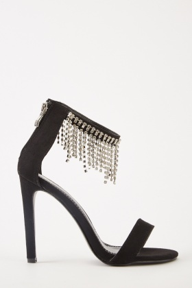 Diamante Encrusted Front Heels