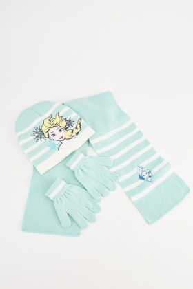 Disneys Frozen Hat, Scarf And Gloves Set