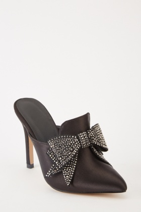 7411431bf7e Encrusted Bow Front Heels