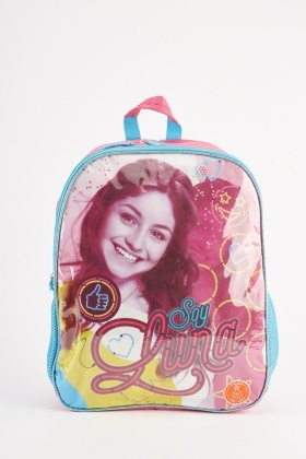 Hi-Shine Printed Front Backpack