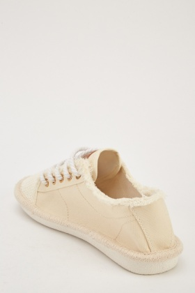 Lace Up Espadrille Style Shoes